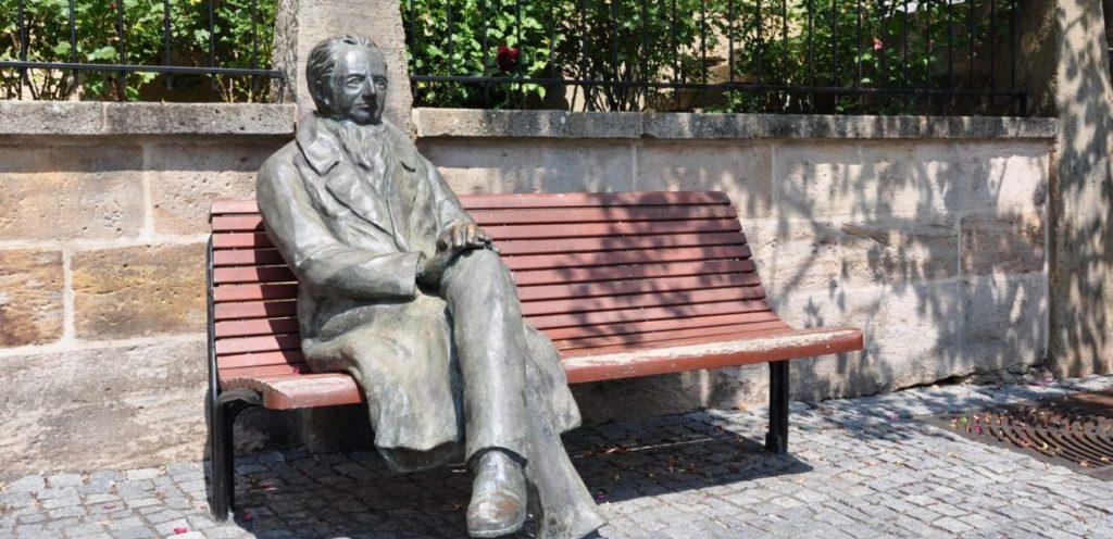 Goethe-Skulptur in Ilmenau/Thüringen