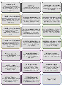 Recherchekarten zum Thema Globalisierung