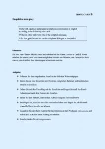 Wortschatzfestigung in niveaudifferenzierten Rollenspielen