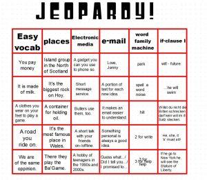 Im Team Vokabeln üben: Jeopardy