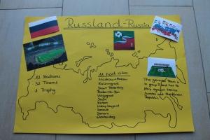 Infoplakat zu Russland und Fußball-WM