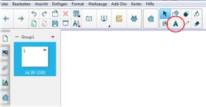 Screenshot Smart-Software: Schriftauswahl