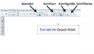Schriftart und -größe in der Smart-Software auswählen