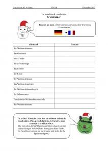 Restez en mouvement – Weihnachtswortschatz erlaufen
