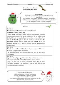 Checkliste Exercice Le marathon de vocabulaire (Download am Ende des Artikels)