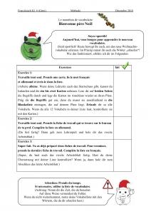 Checkliste Exercice Le marathon de vocabulaire (Download am Ende des Artikels)