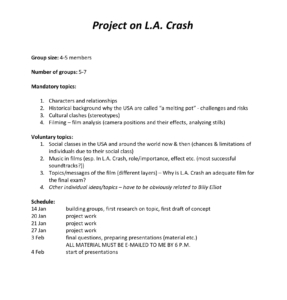 Project on L.A. Crash