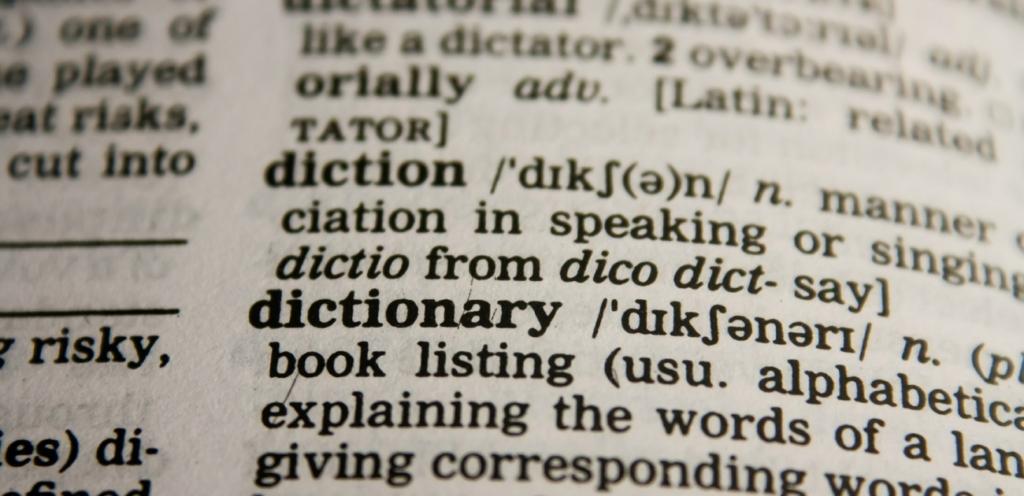 Wörterbuch-Eintrag zum Lemma dictionary