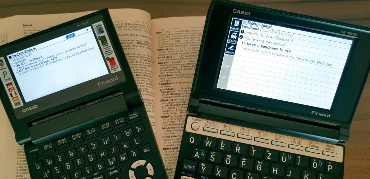 Ex-word EW-G560C und Ex-word EW-G7000E
