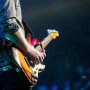 Gitarrist auf der Bühne