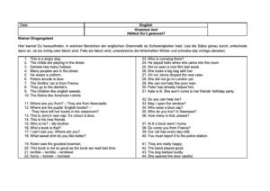 Mein Englisch-Grammatiktest für meine neue Klasse (Download unter dem Artikel)